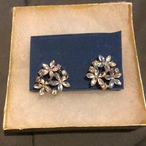 Diamond Flower Stud Earring